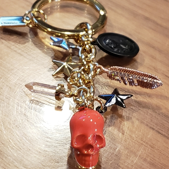 HTF💀 COACH MIXED METALS SKULL KEYCHAIN CHARMS FOB